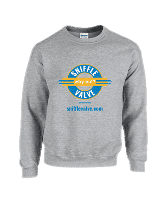 Sniffle Valve sweat shirt