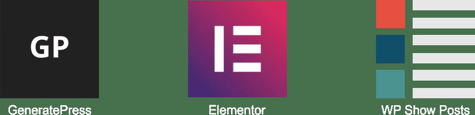 GeneratePress Elementor WP Show Posts logos