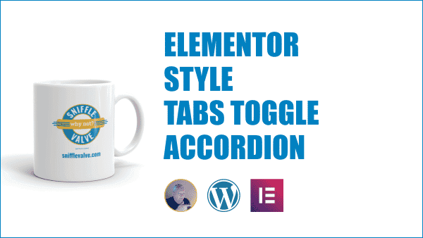 Elementor - Style the tabs, accordion, and toggle widgets