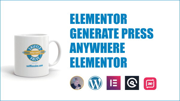 Elementor GeneratePress AnyWhere Elementor