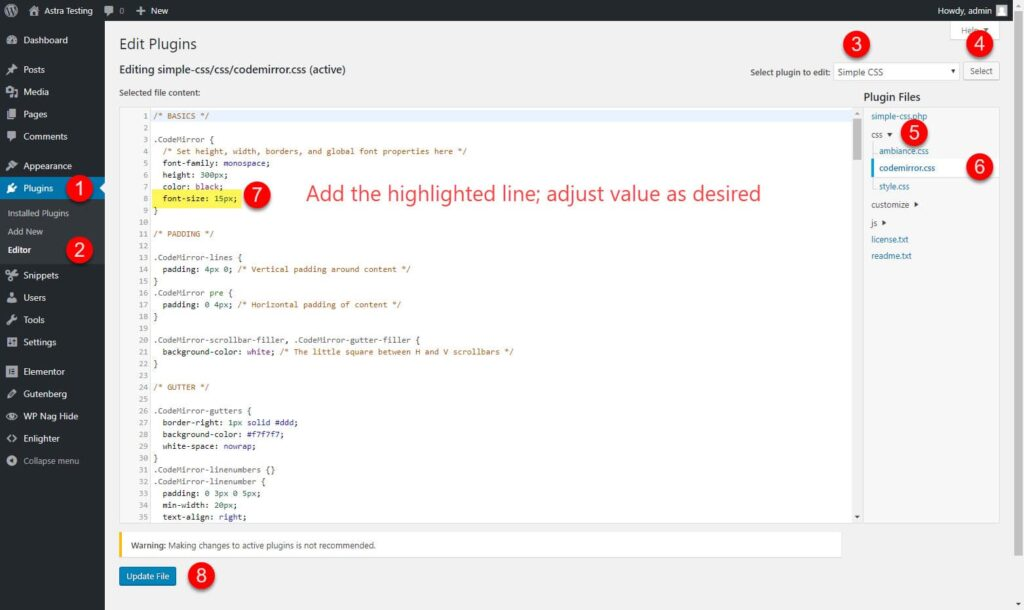 Simple CSS screenshot