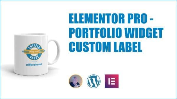 Elementor Pro Portfolio Filter Bar Label