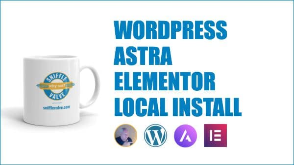 WordPress Astra Elementor local install graphic